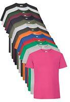 Fruit Of The Loom Plain Cotton Heavy Weight Premium Ringspun Tee T-Shirt S - 5XL