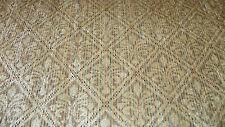Beige Fleur De Leis Print Chenille Upholstery Fabric 1 Yard R722