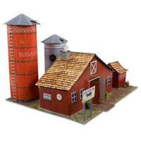 1/64 Slot Car HO Farm Diorama Photo Real Scale Barn Kit Model  Scenery Sets