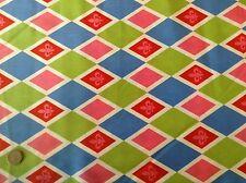 Michael Miller Ooh La La Fleur de Lis Harlequin Bright Cotton Quilting Fabric FQ
