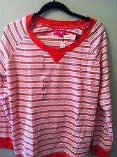 VICTORIA'S SECRET Red/ Gold /Pink Thermal Pajamas  NWT XLarge
