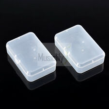 Musiclily 2Pcs Plastic Transparent Guitar Pick Box Case