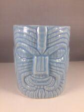 Tiki Mug Stylize Thumbs Up Peanut Light Blue Home Ceramic Hawaiiana Small Cup