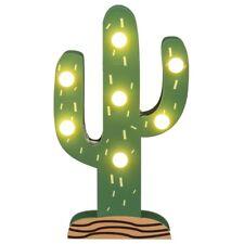 LED Holz Kaktus Kaktee Licht Deko indirekte Party Beleuchtung Mediterran Maritim