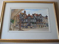 Original Watercolor Painting By Graham Petley, Signed, Framed