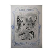 Lacome Paul the Fairies Singer Piano 1880 Sheet Music Sheet Music Score