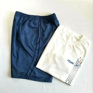 Reebok Mens 2006 Logo Soccer T-shirt Large and Shorts Medium