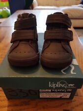 Infant size 4 EU 20 brown boys Kipling shoes leather cute BNIB