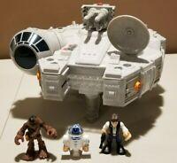 Playskool Heroes Galactic Heroes Star Wars Millennium Falcon  Chewy, Han, R2D2