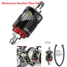 Motorcycle Bike Gasoline Filter Oil Fuel Filter Prevent Impurities Aluminum Kit