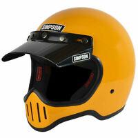 Simpson M50 Bandit Motorcycle Helmet DOT - Retro Styling Yellow Extra-Large