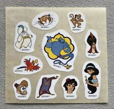 disney Aladdin Sticker Sheet, Unused Loose Sheet, 3� X 3.25�