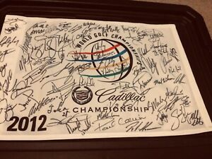 2012 Wgc Cadillac golf flag  60+ autos Tiger Woods inc 25 diff major winners
