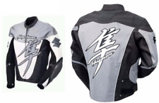 SUZUKI HAYABUSA RACER  MOTORBIKE  LEATHER JACKET CE APPROVED