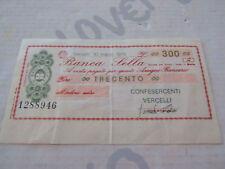 MINIASSEGNO BANCA SELLA - Confesercenti Vercelli 10.3.1976 - CIRCOLATO lire 300