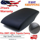 Fits 2007-2011 Toyota Camry Leather Center Console Lid Armrest Cover Black