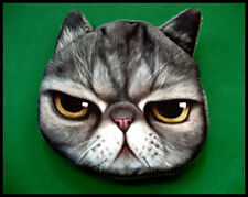 CUTE CAT CASH/COIN/CARD PURSE WALLET - FULLY LINED -  GRUMPY CAT