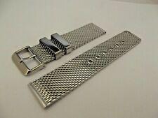 mesh milan massiccio bracciale orologi acciaio silver ansa 18  20 22  mm watch