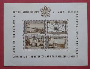 "1946 ""28th Philatelic Congress"" Brighton & Hove Philatelic Society stamp sheet"