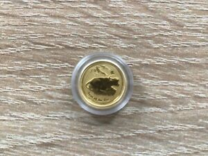 1/20 OZ Lunar 2 Ochse 2009 ox Unzen Goldmünzen 999er Gold top