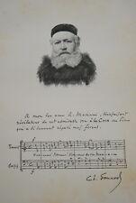 GRAVURE SUR BOIS CHARLES GOUNOD MUSIQUE ALBUM MARIANI 1894 AUTOGRAPHE