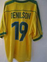 Brazil 1998-2000 Denilson 19 Home Football Shirt Extra Large Maglia /34809