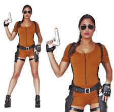 Ladies Adventurer Costume Tomb 90s Video Game Fancy Dress Sexy Raider Halloween