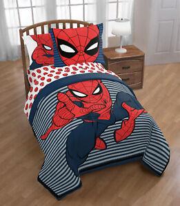 Comforter Set Twin / Full Size Marvel Spider Man 2 Piece Boys Kids Bedding