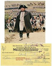 ROD STEIGER   AMERICAN FILM  STAR ACTOR   SIGNED BANK CHEQUE / CHECK  1958  RARE