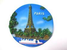 Paris Magnet Souvenir France Eiffelturm Seine Tour Eiffel aus Poly