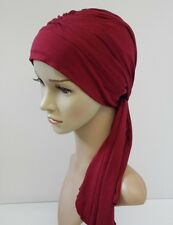 Chemo head wear, head covering for hair loss, turban hat with ties, women's hat
