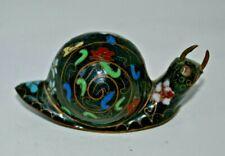 Antique Vintage Cloisonne Flower Collectible Snail Statue Figurine