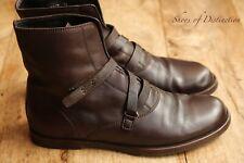 Men's Gucci Brown Calf Leather Boots Shoes Uk 7.5 Us 8.5 Eu 41.5