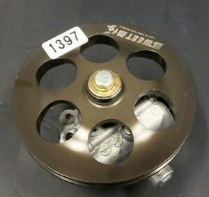 Racing  Sweet  Power Steering Pump & V Belt Pulley Nascar  Hot Rod