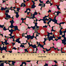 Navy blue gold embossed Japanese Sakura 100% cotton fat quarter FQ #0119