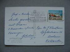 ALGERIA, PPC to the Netherlands 1967, slogan canc. blood donation