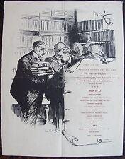 LOUIS MALTESTE. Lithographie. MENU: Banquet offert par ses amis à Lucien Gougy.