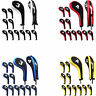12*long neck Golf Club Iron Head Covers Wedge Headcovers Set For Taylormade Ping