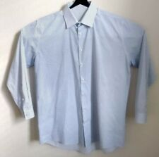 EUC Mens Large16 1/2 -32/33 J.Ferrar Slim Long Sleeve Button Down Blue Shirt