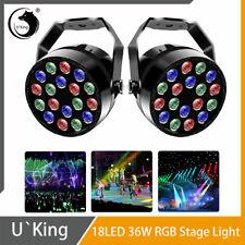 2STK 36W 18 LED Bühnenlicht RGB PAR Licht DMX DJ Party Bar Club KTV Farbmischung