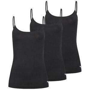 PUMA Iconic Damen Sport Tanktop Shirt 3er-Pack 684007001-200 Gr. XS schwarz neu