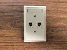 Telephone double/dual Wall Mounted Outlet/Wall Plate