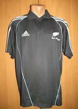 NEW ZEALAND ALL BLACKS 2005 TRAINING RUGBY UNION POLO SHIRT JERSEY TOP ADIDAS L