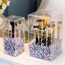 Makeup Brush Holder Transparent Acrylic Organizer with Dustproof Cover and PBDA