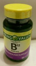 Spring Valley Natural Timed Release Vitamin B12 Tablets, 1000mcg, 150 Tablets
