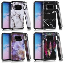 For Samsung Galaxy S10e - Hard Rubber Hybrid Protector Armor Phone Case Cover