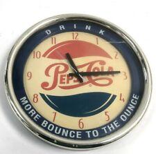 More details for vintage pepsi cola wall clock quartz drink merchandise + memorabilia #119