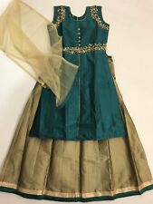 $35 Hot Price  lehenga with long Kameez Anarkali suit  12-13 Year Indian size 36