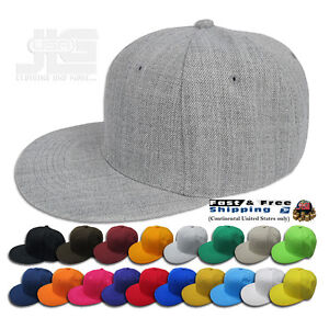 Plain Fitted Size Cap New Acrylic Multi-Brand Baseball Hat S-2XL Flat Bill Visor