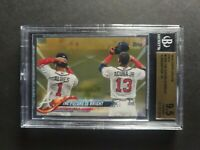 2018 Topps Update Gold Albies/ Ronald Acuna Jr Atlanta Braves BGS 9.5 Rookie